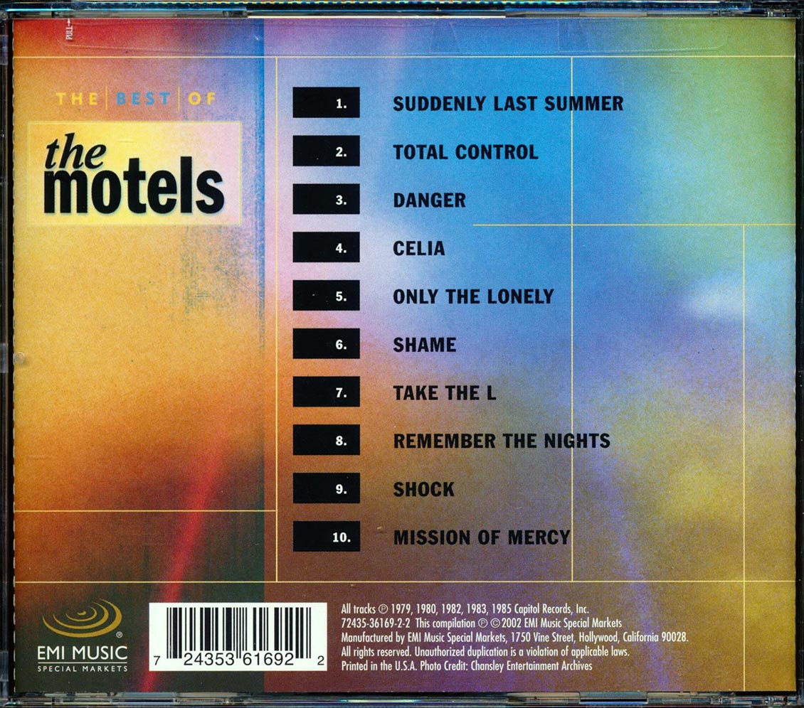 SEALED NEW CD Motels, The - The Best Of The Motels 2