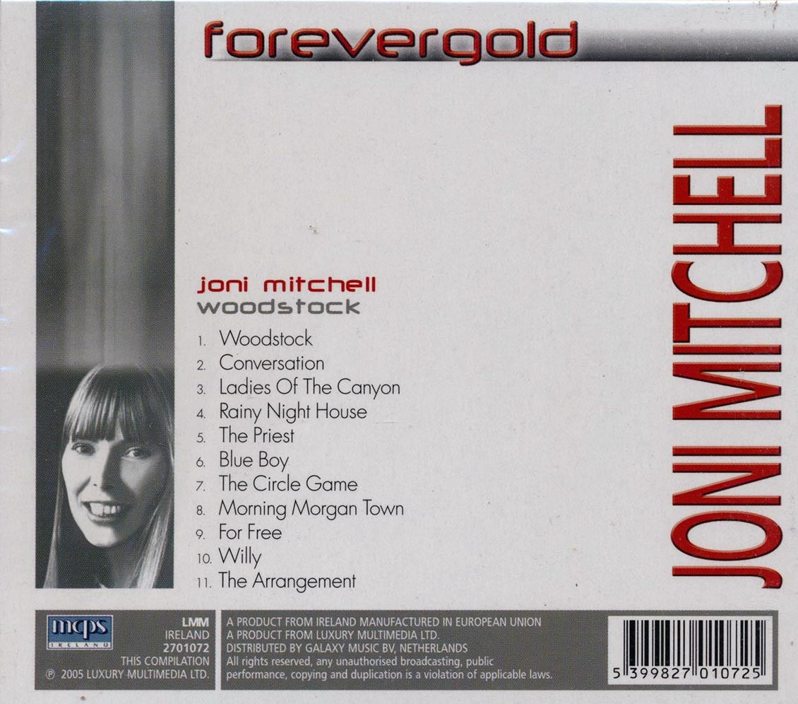SEALED-NEW-CD-Joni-Mitchell-Woodstock-Forever-Gold miniature 2